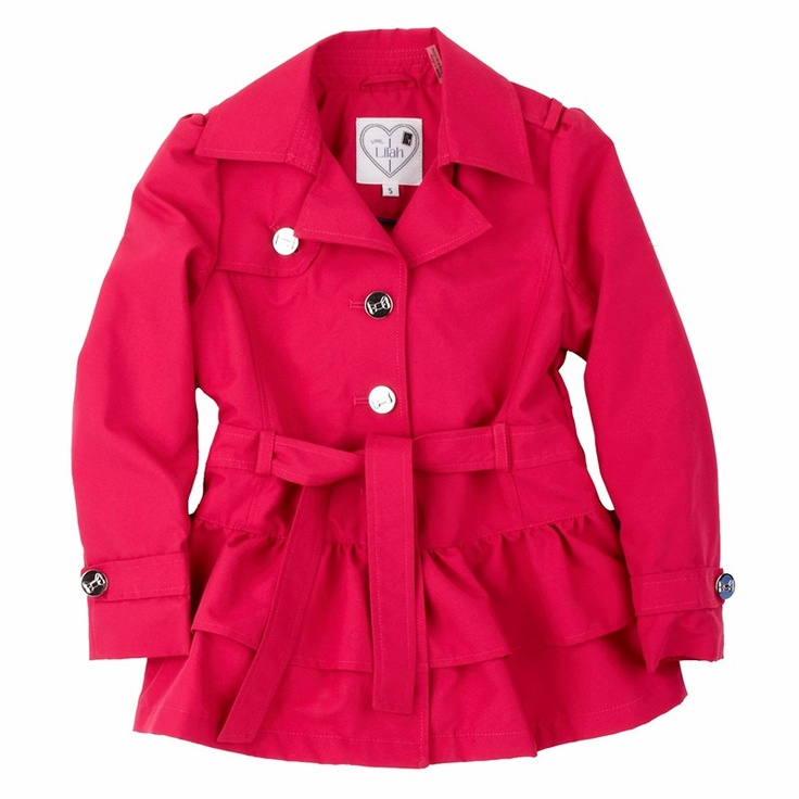 Too cute (and too much $) Luckily I bought coats on clearance last year.  Hipster Trench Coat with Ruffle Hem (4-6x) $39.99: Bought Coats, Trench Coats