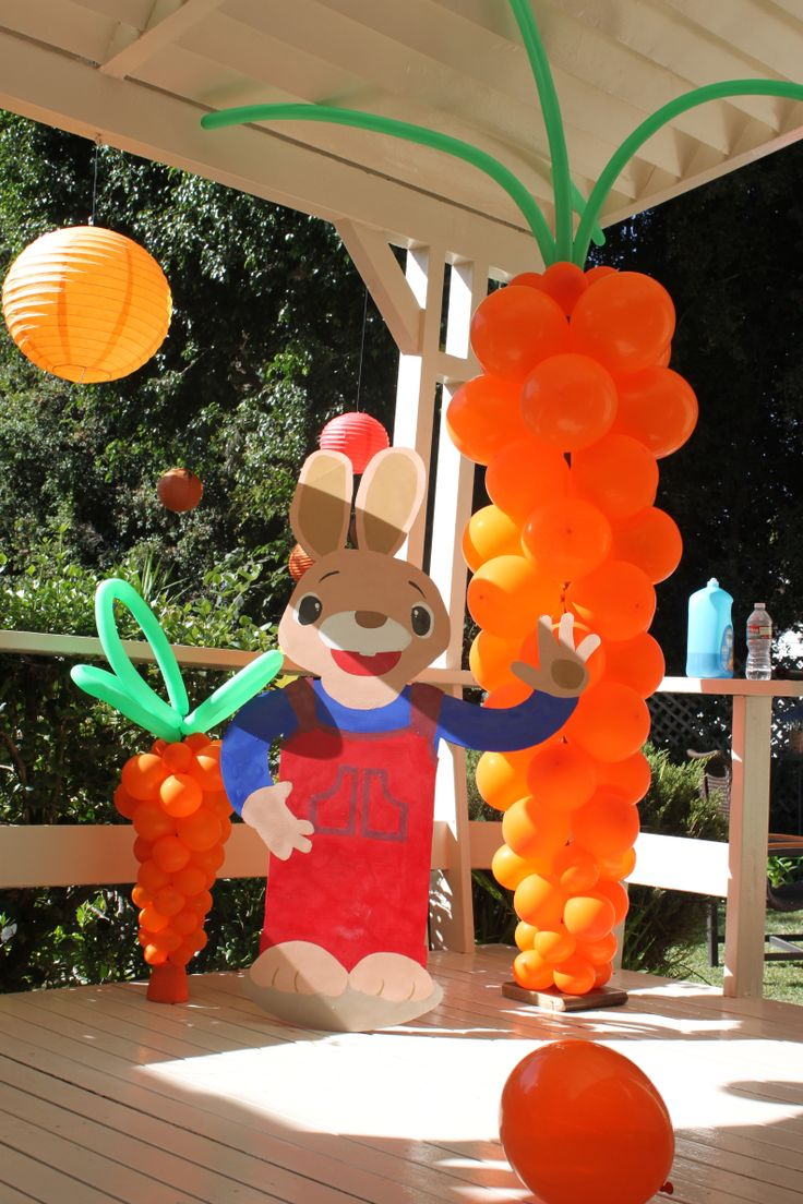 Halloween birthday party decorations - Harry The Bunny Party Decor
