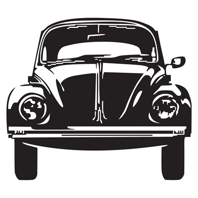 VW - Black -Removable vinyl wall decal