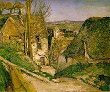 Paul Cézanne, La casa dell' impiccato,1873, olio su tela, Museo d' Orsay, Parigi.