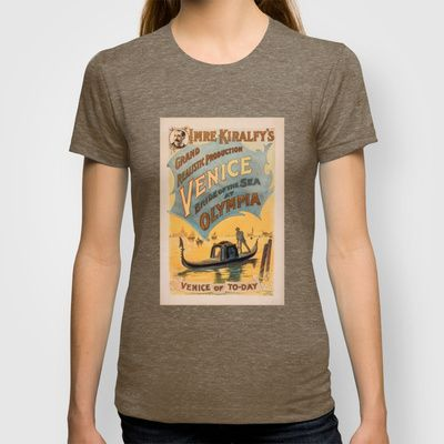 Vintage theatrical poster for Imre Kiralfy's production of Venice Bride of the Sea at Olympia T-shirt
