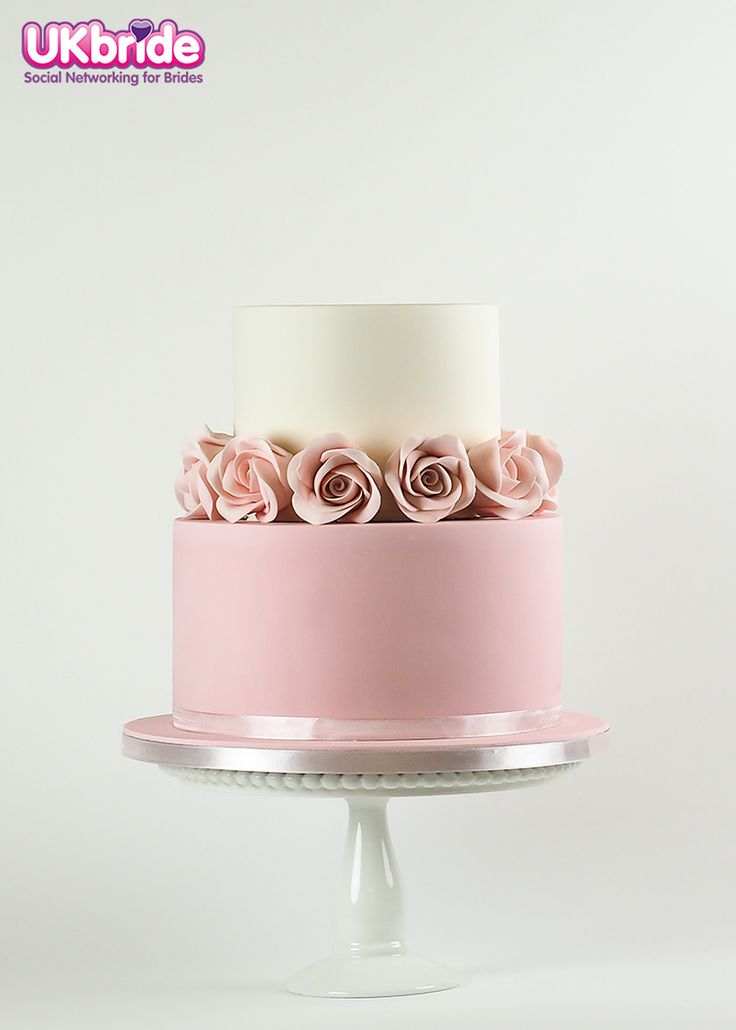 Beautifully simple cake by Rosalind Miller Cakes. This is perfect if you're having a 'cake table.' www.ukbride.co.uk/suppliers/wedding-cakes-favours/-/1