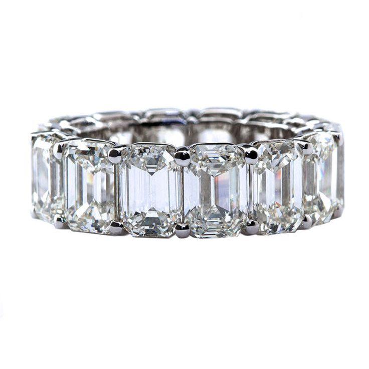 Emerald Cut Eternity Diamond Band  TMW Jewels CO
