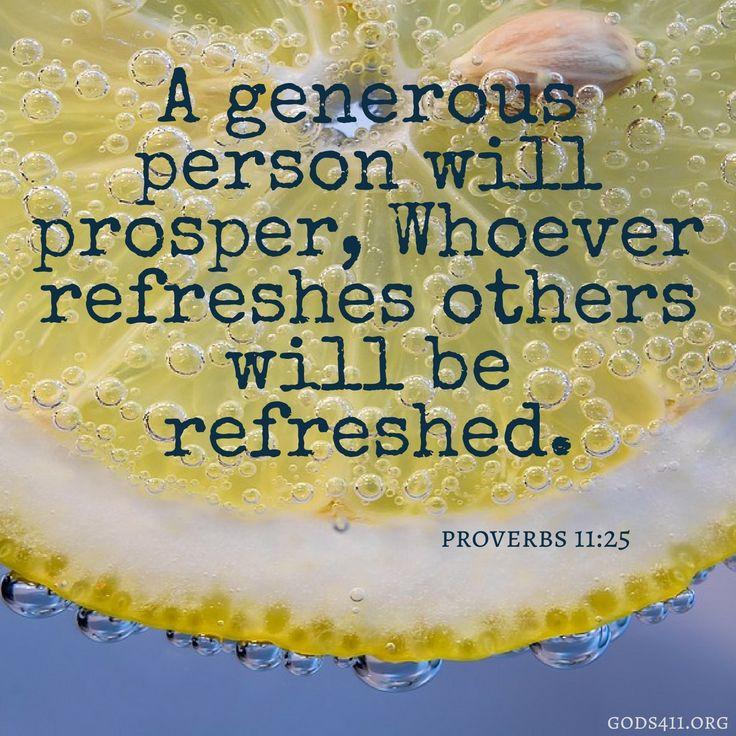 Proverbs 11:25 | Bible Verses
