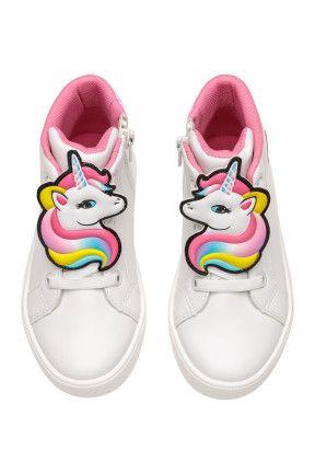b02ca3ecaedd High Tops in 2019   kids boots   Unicorn, Unicorn kids, White tops