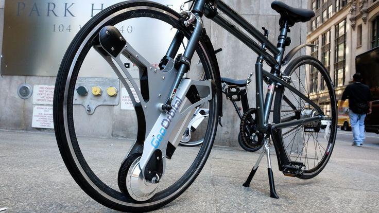 A roda GeoOrbital transforma sua bicicleta normal numa elétrica
