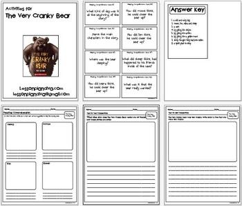 Here are a few printables to go with the book The Very Cranky Bear. There is an activity on text to self, text to text to text and reading comprehe...