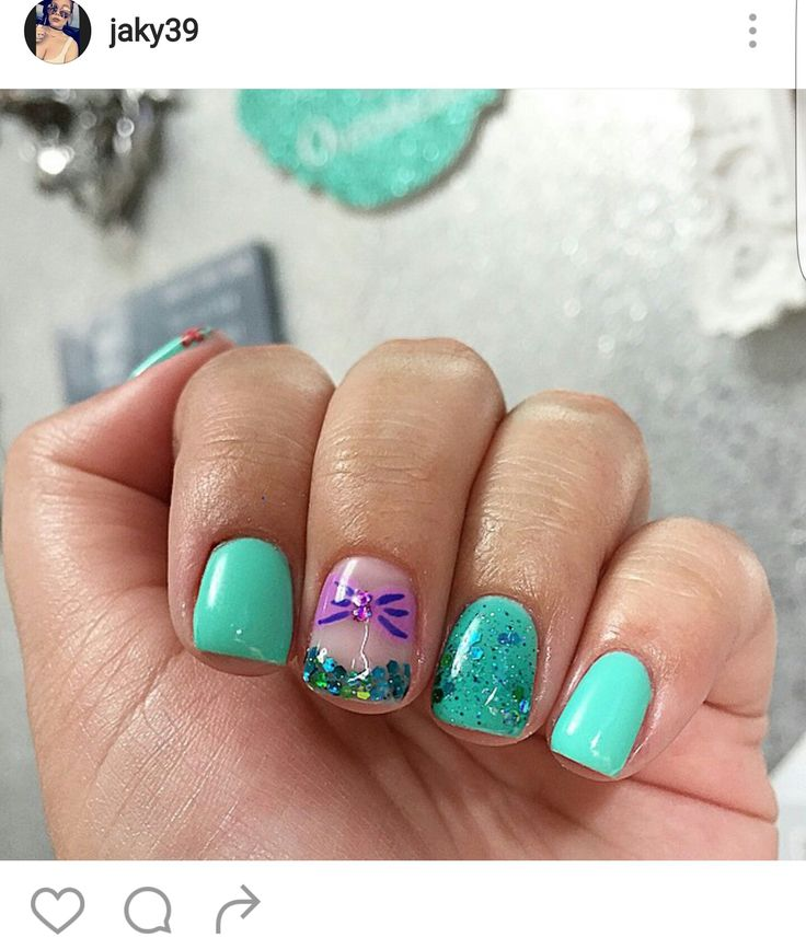 Little mermaid nails                                                                                                                                                      More