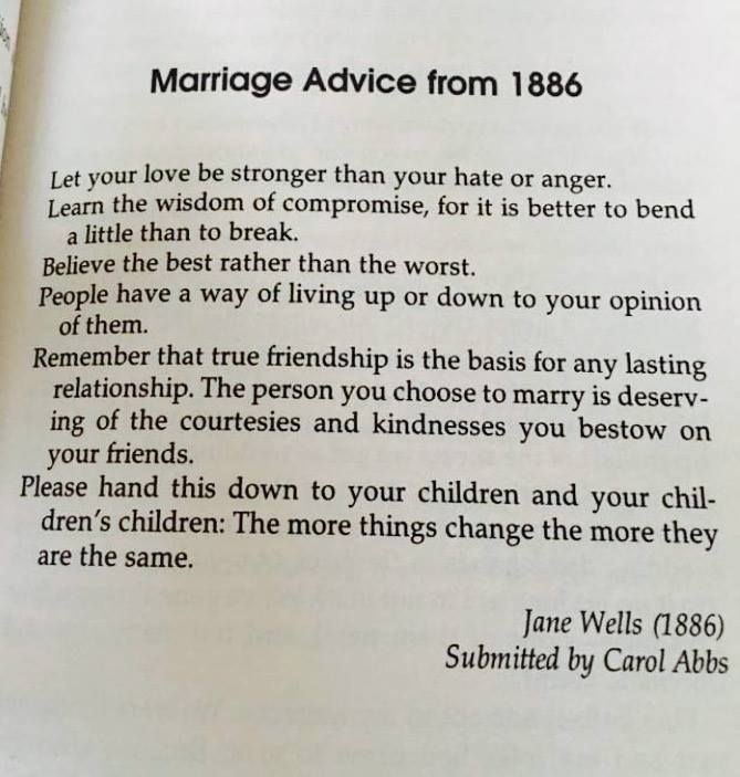Marriage Advice That's Not Outdated...Even from 1886