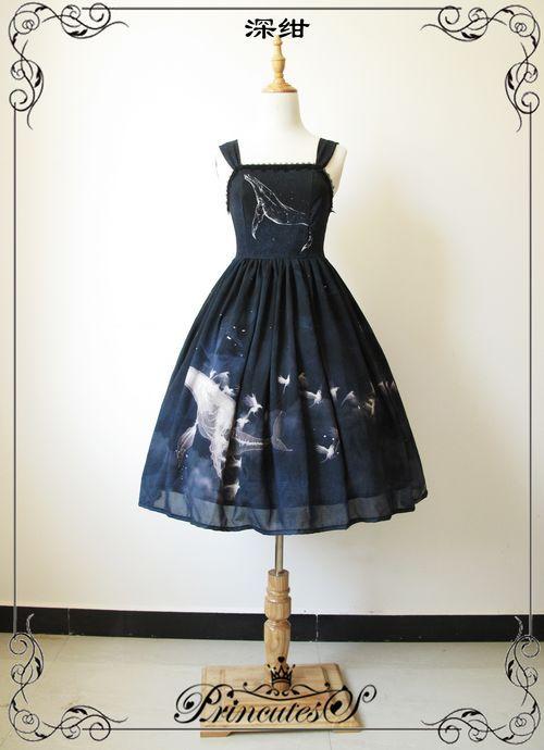 Whale Fall系列 JSK+星座柄罩裙 三色预约 定金页面-淘宝网全球站