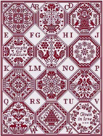 quaker's dozen cross stitch