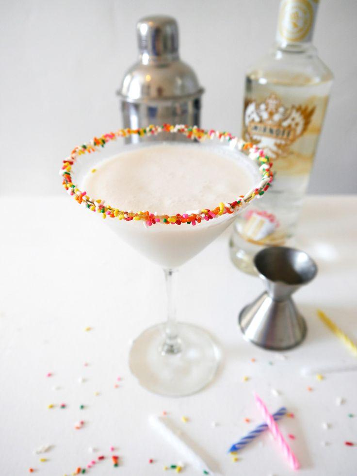 Birthday Cake Martini via freutcake (is it my birthday yet?)