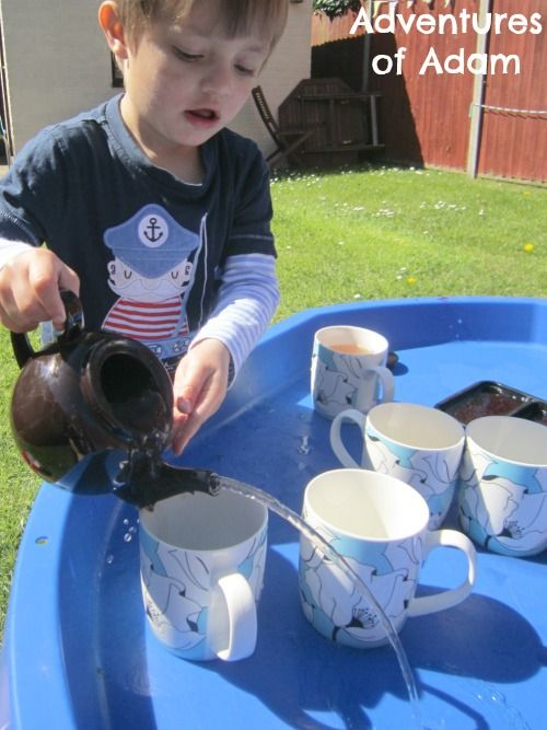 Adventures of Adam Toddler water play using teabags