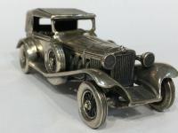 """Autíčko Mercedes Benz """"55"""", stříbrná miniatura"""