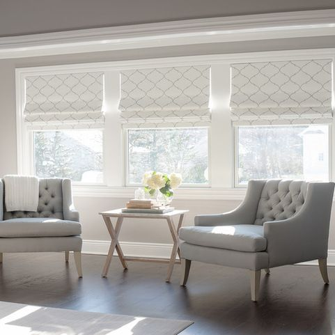 25 best ideas about window treatments on pinterest for Roman blinds for large windows