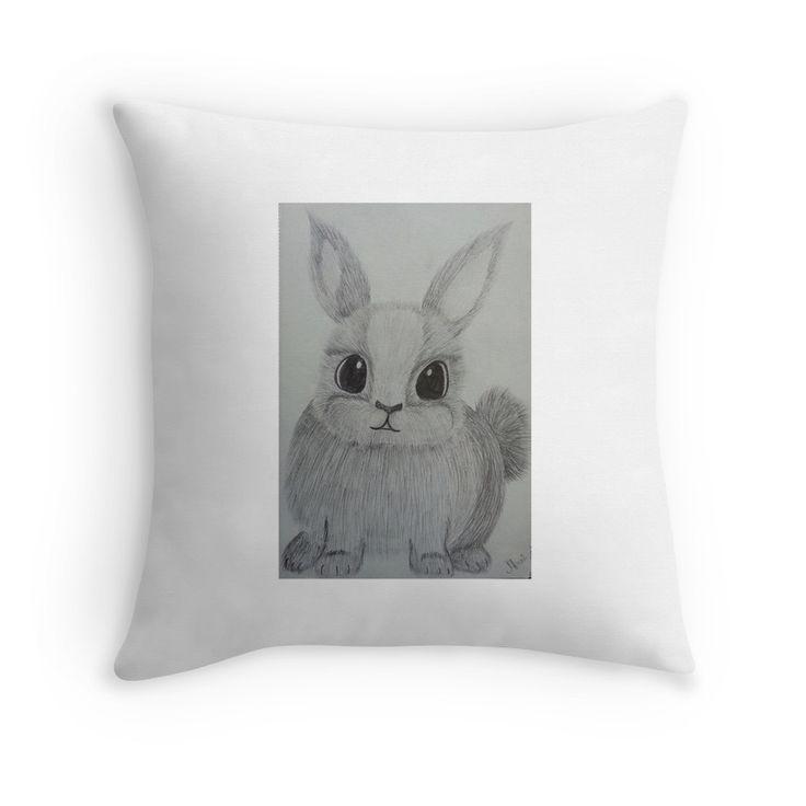 scared fluffy bunny