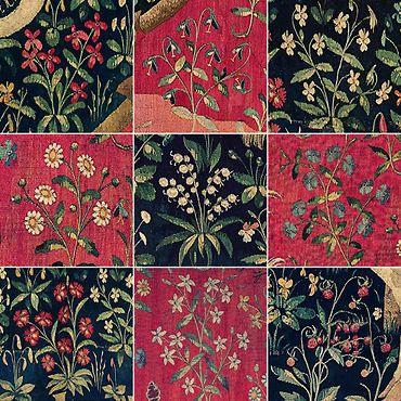 Tentures de la Dame à la licorne : les fleurs (détails)