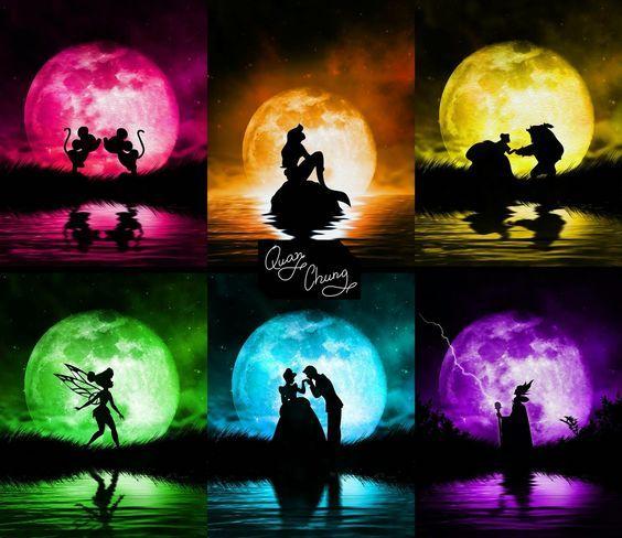 <3 Disney Silhouetten <3