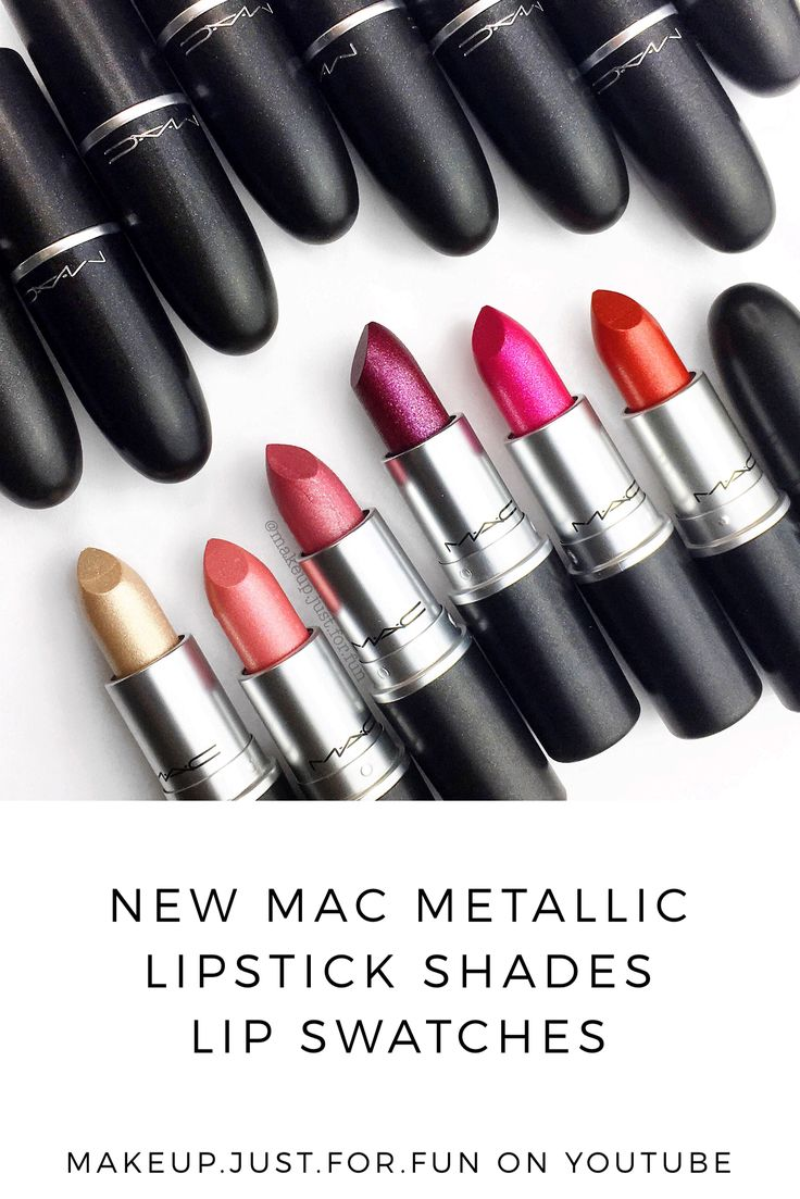 Lip Swatches Of The NEW Metallic Lipstick Shades From MAC
