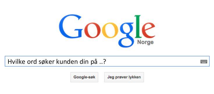 Alle bedrifter har behov for å være synlige i Google. Men på hvilke søkeord?