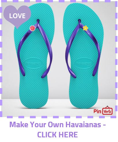 Design your own Havaianas world best flip flops. You can select your colour, design, look and select your size. Check out at http://pinverts.com/Make-Your-Own-Havaianas-CLICK-HERE_yxyn08m