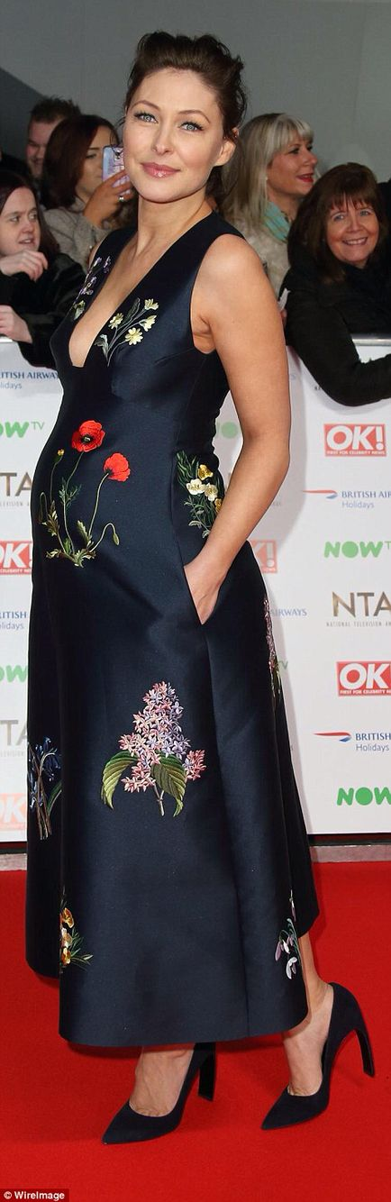 Emma Willis at the National Television Awards 2016 Stunning and pregnant too!