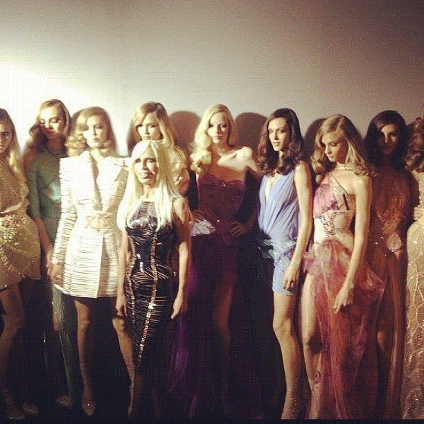 #Versace couture with Donatella - Paris