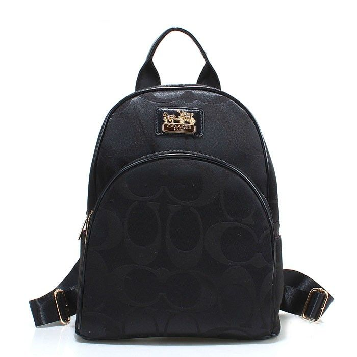 Coach Logo Monogram LZ701 Backpack In Black