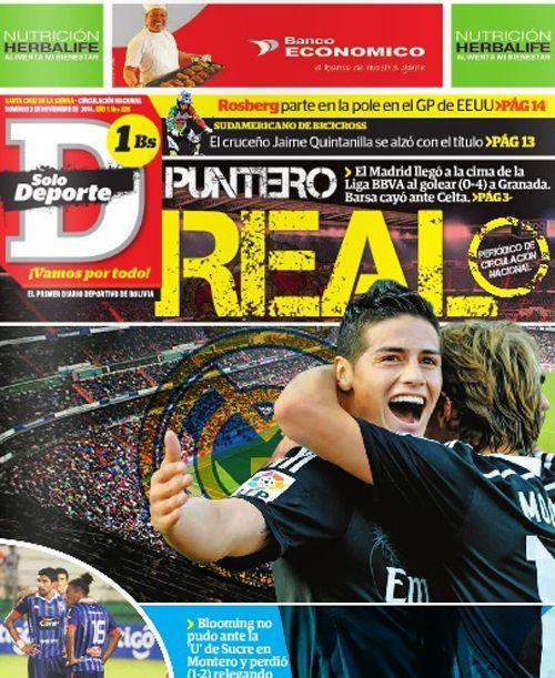 Portadas de los diarios deportivos de América 02/11/14 -