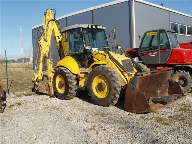 Great Price Backhoe New Holland LB 115 B Second Hand. Manufacture year: 2006. Working hours: 6335. Weight: 8700 kg. 2 Cups. Pallet forks. Excellent running condition. Ask us for price. Reference Number: AC0048. Baurent Romania.