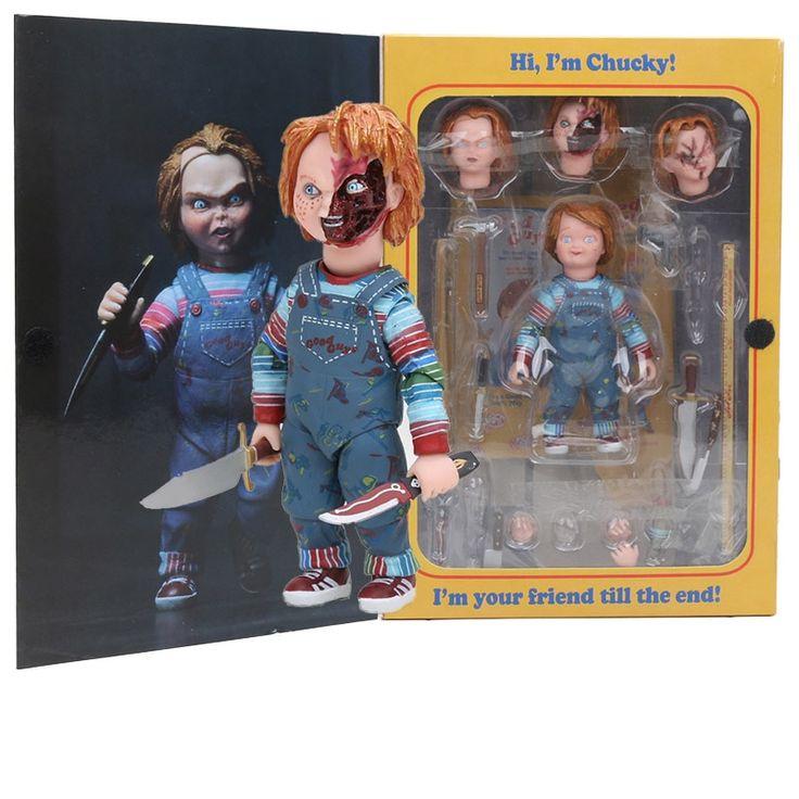 Encontrar Mas Accion Y Figuras De Juguete Informacion Acerca De Neca Scary Chucky Figura Juguetes Peli Peliculas De Terror Chucky Mejores Carteles De Peliculas
