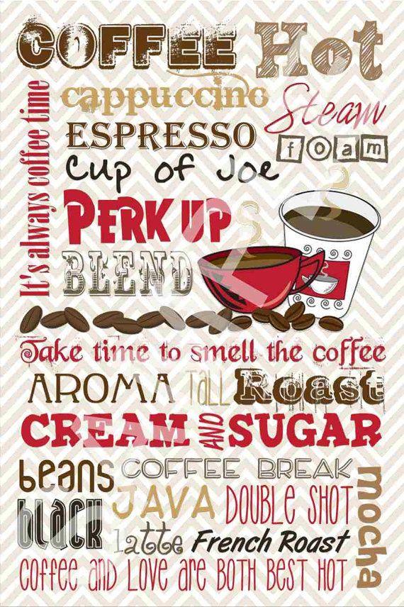 So Cute For A Kitchen Coffee Decor Printable Subway Art