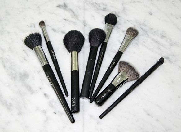 how often should you clean makeup brushes when you have acne?