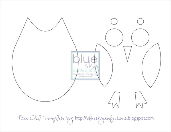 Free Owl Sewing Template