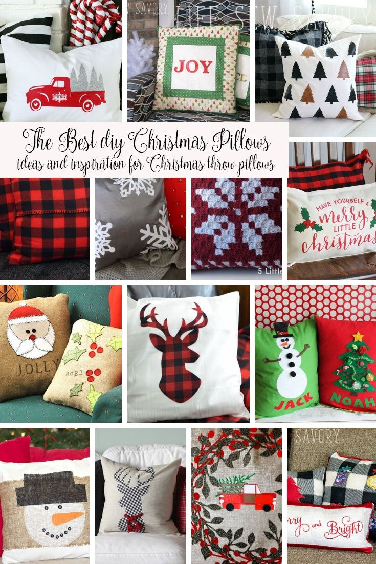 Diy Christmas Pillows Ideas Tutorials And Patterns To Make Easy Christmas Pillows From Life Sew Savor Christmas Pillows Diy Christmas Pillows Christmas Pillow