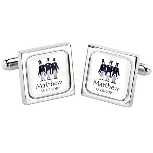 Personalised Model Usher Cufflinks  from Personalised Gifts Shop - ONLY £24.95