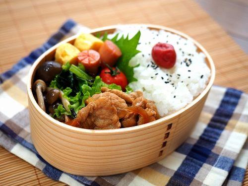 豚のショウガ焼き弁当 - おっさん弁当と簡単レシピ