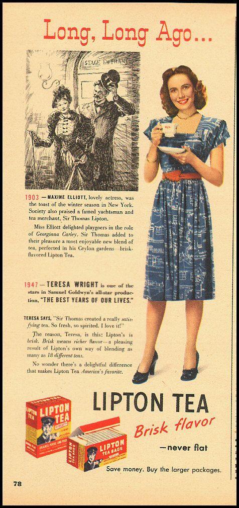 Vintage Ad for Lipton Tea - 40's