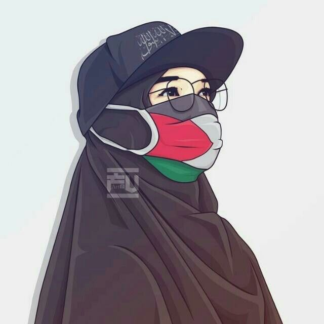 Sad Hijab Girl Cartoon Wallpaper Novocom Top