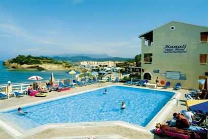 Kanali Studios and Apartments, Greece    Corfu, Greece  3 Sun        Terrace views out to sea      Freshwater pool      4 bedded rooms