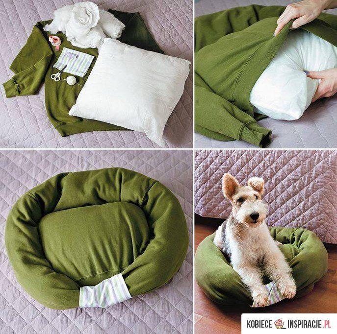 Legowisko dla psa z poduszki - Kobieceinspiracje.pl