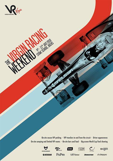 Layout | Virgin Racing Weekend poster