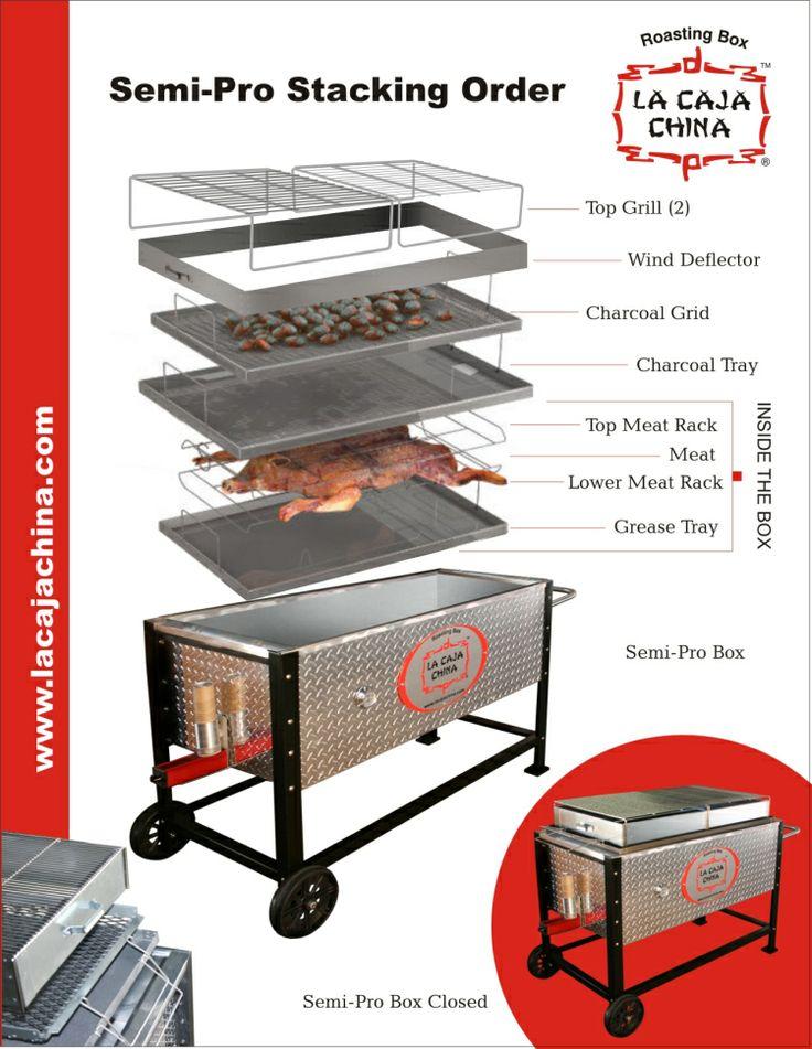 Pig roasting box 40 lbs model #40lbs aluminum   la caja china.