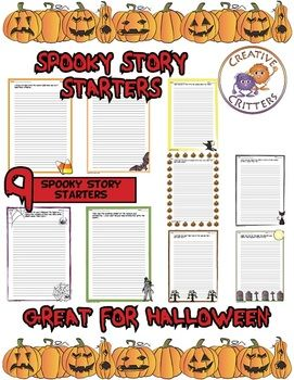 best scary story prompts images handwriting  spooky stories 9 narrative writing prompts colorful border writing lines