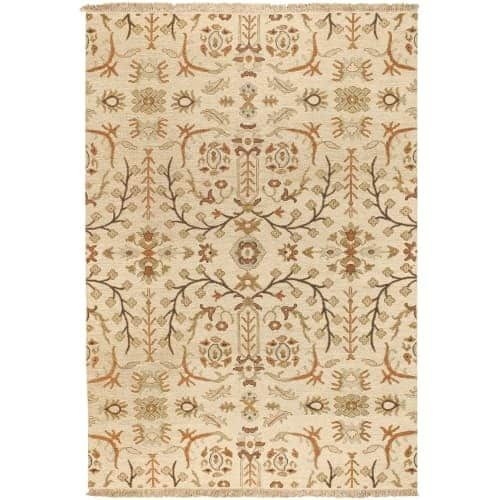 Surya SNM9002-69 Sonoma 6' x 9' Rectangle Wool Hand Knotted Transitional Area Ru - Tan