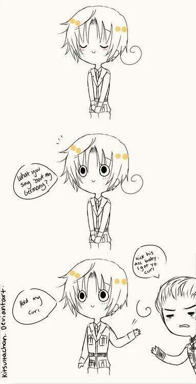 XD Hahahahahahahahahaha! That *pants* I think , whoa, I laughed to hard. But in al seriousness I think GerIta is cute!