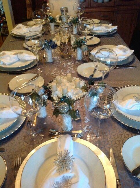Winter Wonderland Table Settings Part - 46: Winter Wonderland Table Setting