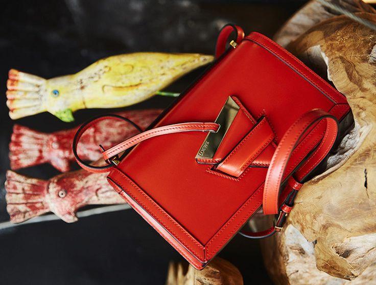 The geometric brilliance of Loewe's Barcelona bag