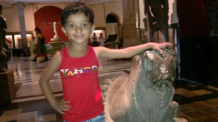 At National Museum, Mumbai