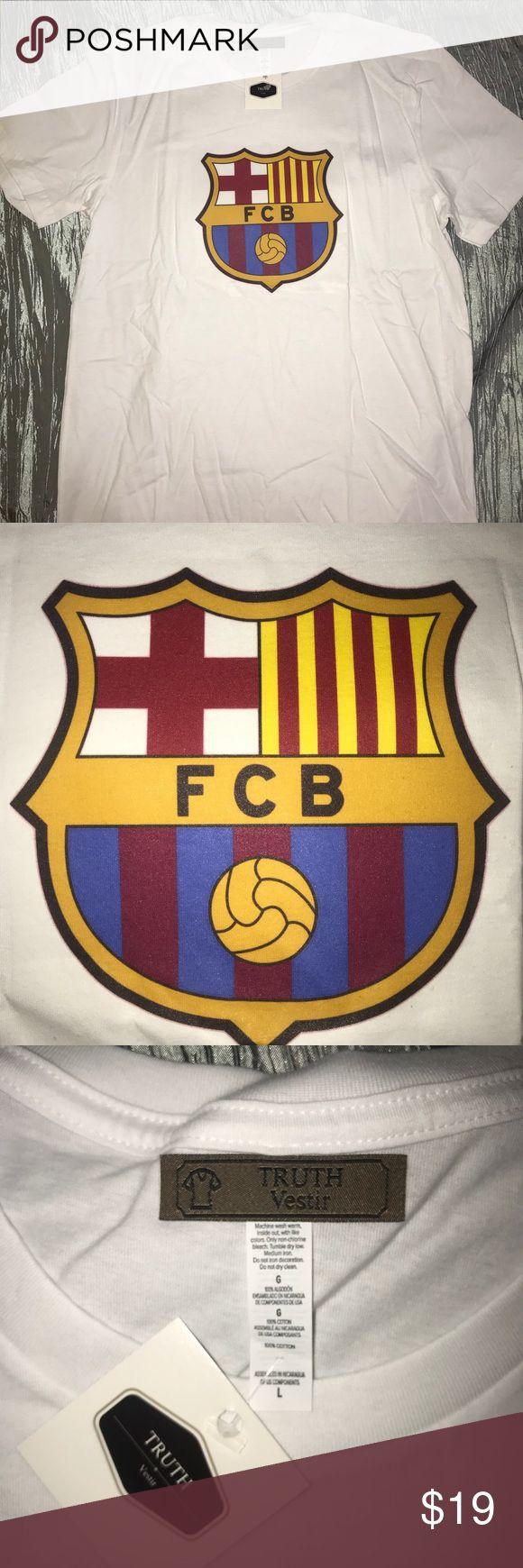 FC Barcelona T-Shirt Crew Neck Extremely Soft TRUTH Vestir Shirts Tees - Short Sleeve